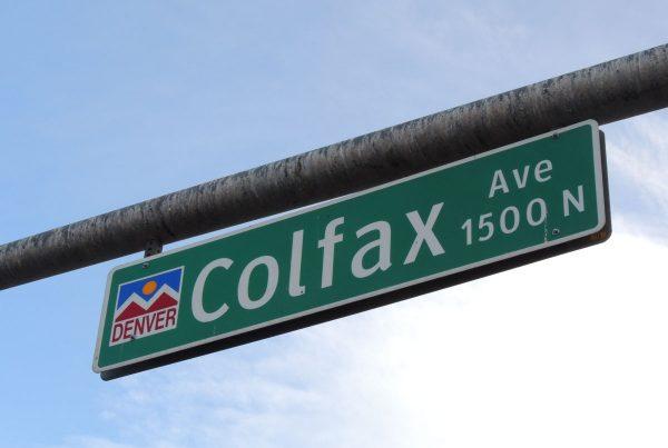 Colfax Street Sign